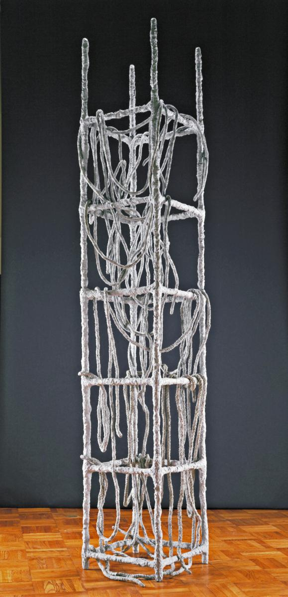4 Eva Hesse, Laocoön, 1966. Plastic tubing, rope, wire, papier-mache, cloth, and paint.  Allen Memorial Art Museum, Oberlin College. Fund for Contemporary Art and gift from the artist and Fischbach Gallery, 1970.32