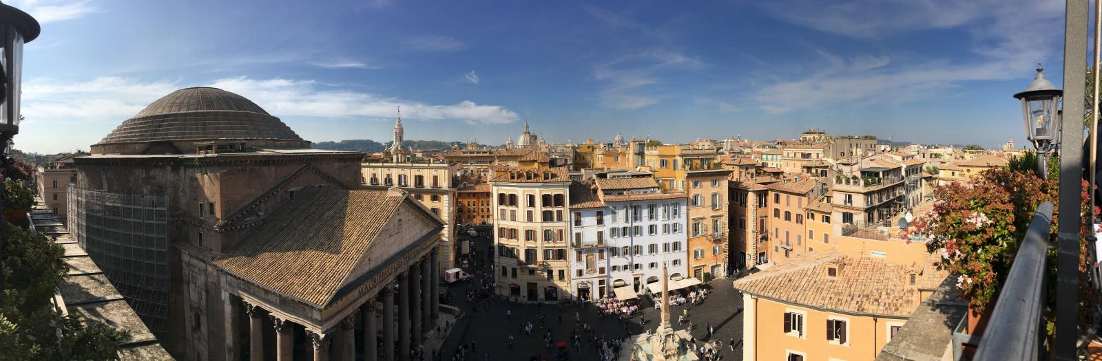"""Panorama of Pantheon from Albergo del Senato,"" Catherine E. Bonesho, unpublished."