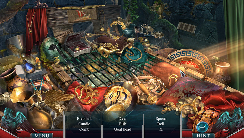 Screen shots from Hidden Expedition: The Curse of Mithridates, Big Fish Games.