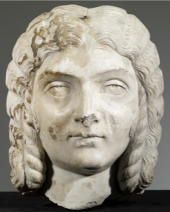 Roman, Portrait of Julia Domna front view, ca. 200 CE. Marble. The Walters Museum, 23.210. CC0 1.0.