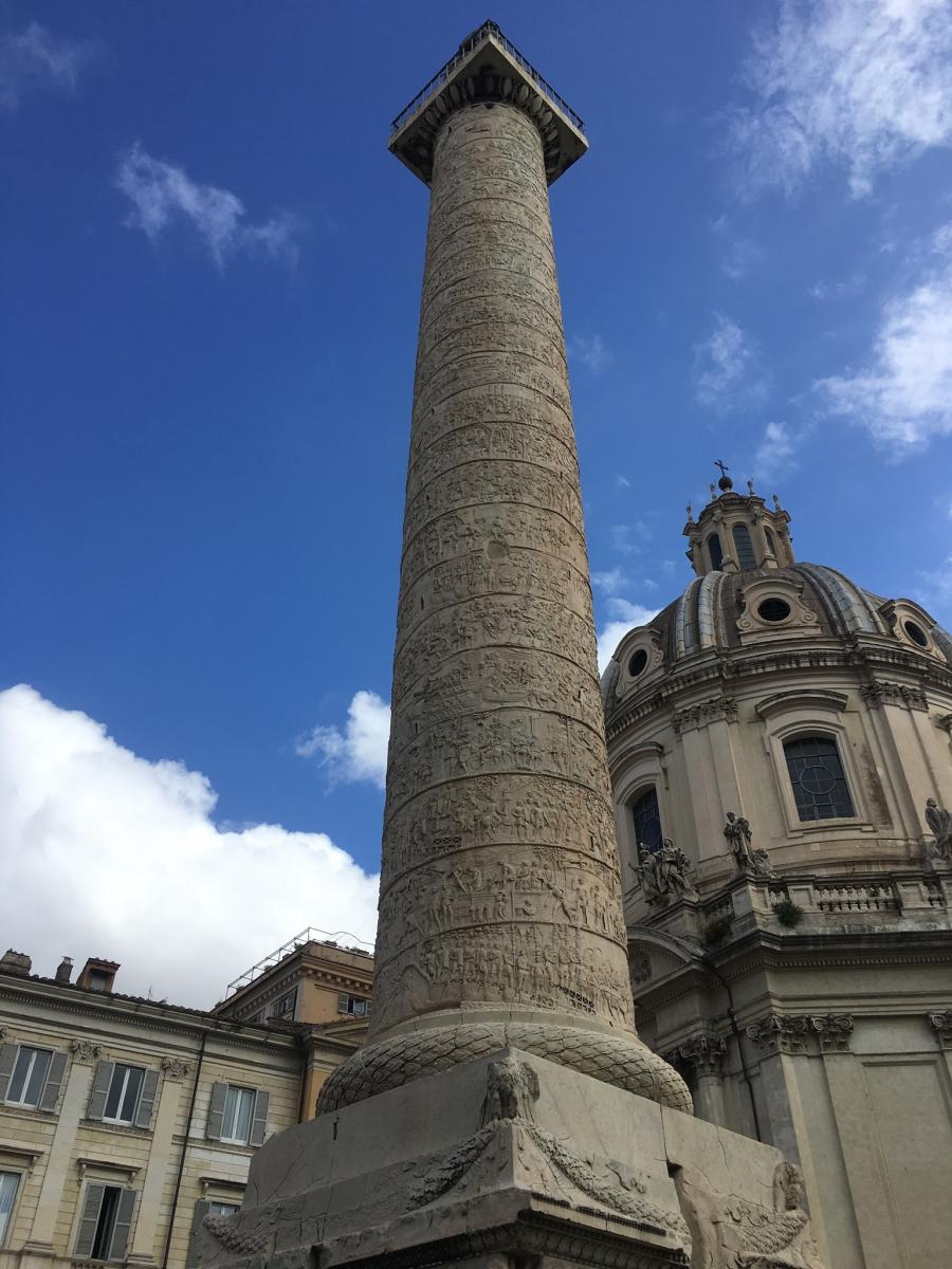 View of Trajan's Column from the South. Image by Catherine Bonesho, unpublished.