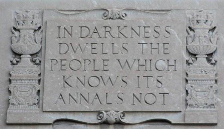 Motto on Clements Library, University of Michigan