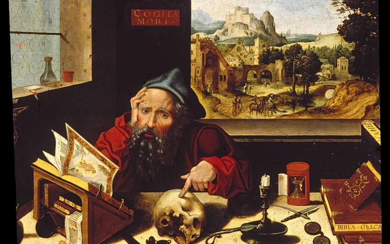 Pieter Coecke van Aelst, the elder (Flemish, 1502-1550). 'Saint Jerome in His Study,' ca. 1530. oil on panel. Walters Art Museum (37.256): Acquired by Henry Walters. Image via Wikimedia under Public Domain.