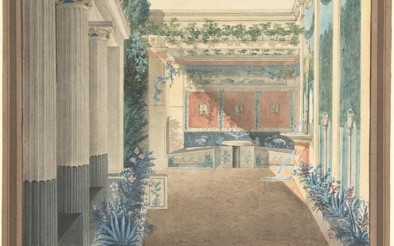 Triclinium, Excavated in the House of Actaeon, Pompeii