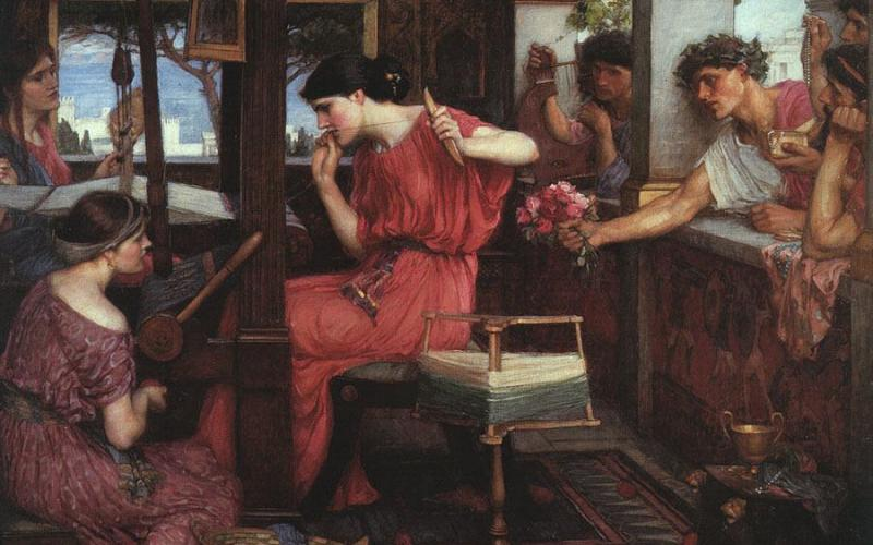 Penelope and the Suitors, by John William Waterhouse. Image courtesy of Wikimedia Commons.