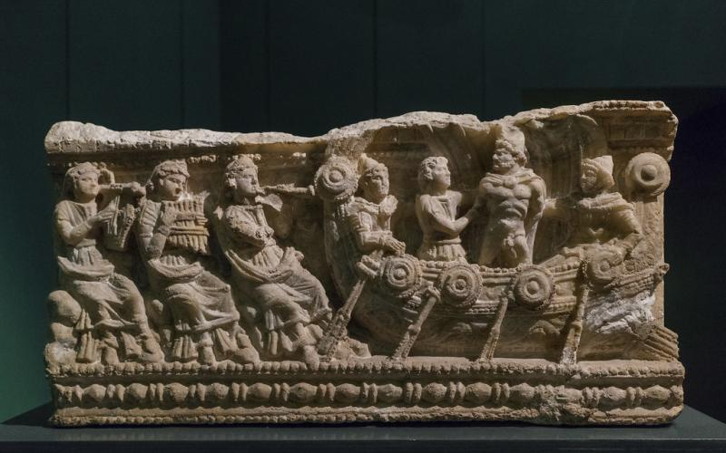 Header Image: Etruscan Alabaster Cinerary Urn with bas-relief that represents Odysseus and the Sirens. 3rd-2nd Cent. BCE. Museo Guarnacci, Volterra, Italy.