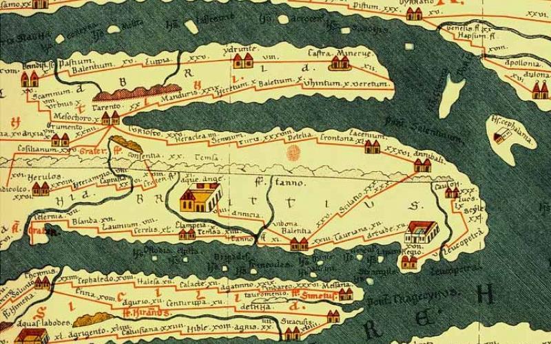 Detail of the Tabula Peutingeriana