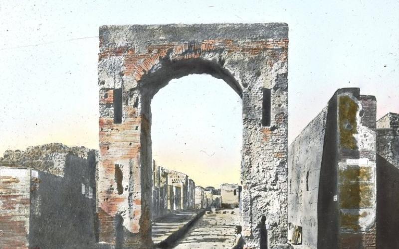 """Gate, Pompeii, Italy"". Brooklyn Museum, Goodyear."