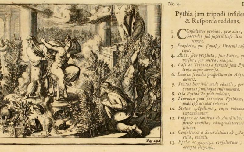the Delphic oracle as interpreted by Anton van Dale in the 1700 edition of his book De oraculis veterum ethnicorum dissertationes duae