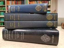 Dictionaries in the University of Iowa Classics Seminar Room, picture by Lindsay Vella and used by permission.