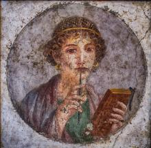 """Portrait of a young woman from Pompeii (so-called 'Sappho')"" Courtesy of Creative Commons"