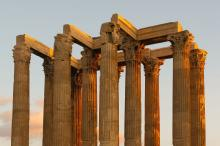 Evening Temple of Zeus Columns