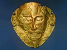 Header image: Gold death-mask, known as the 'mask of Agamemnon'. Mycenae, Grave Circle A, Grave V, 16th cent. BC. National Archaeological Museum of Athens.