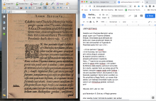 A page from Martin Kraus' Aethiopica Epitome processed using LatinOCR within VietOCR. It handles the opening chapter summary well but is only 88% accurate with the italicized body text.