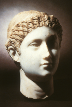 Marble head of Empress Fausta