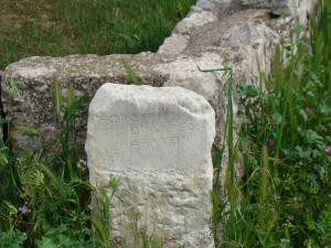 Southeast boundary marker of the Tritopatreion