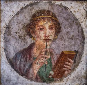 """""""Portrait of a young woman from Pompeii (so-called 'Sappho')"""" Courtesy of Creative Commons"""