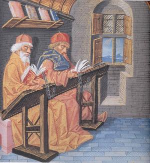 Readers in a Scriptorium