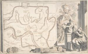 Map of Ancient Rome Illustrating Major Monuments and the Seven Hills