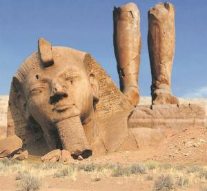 Broken Statue of Ramses II