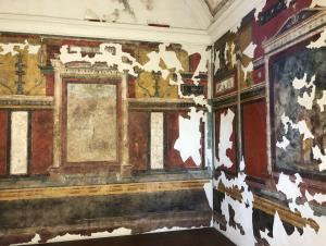 Photo of newly reopened murals in the Domus Augusti by Agnes Crawford.