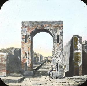 """Gate, Pompeii, Italy"". Brooklyn Museum, Goodyear."