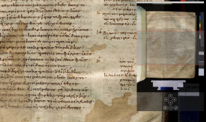 Composite RGB image of manuscript E3, Escorialensis 291 (Υ.i.1): overview of folio 32 recto Creative Commons Attribution-NonCommercial-ShareAlike 3.0 Unported License.
