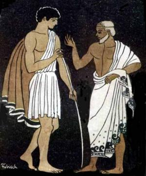 Header image: Telemachus and Mentor in the Odyssey. Ilustration by Pablo E. Fabisch for Aventuras de Telémaco by François Fénelon, 1699. Image courtesy of Wikimedia Commons.