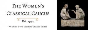 Banner of the Women's Classical Caucus, est. 1972