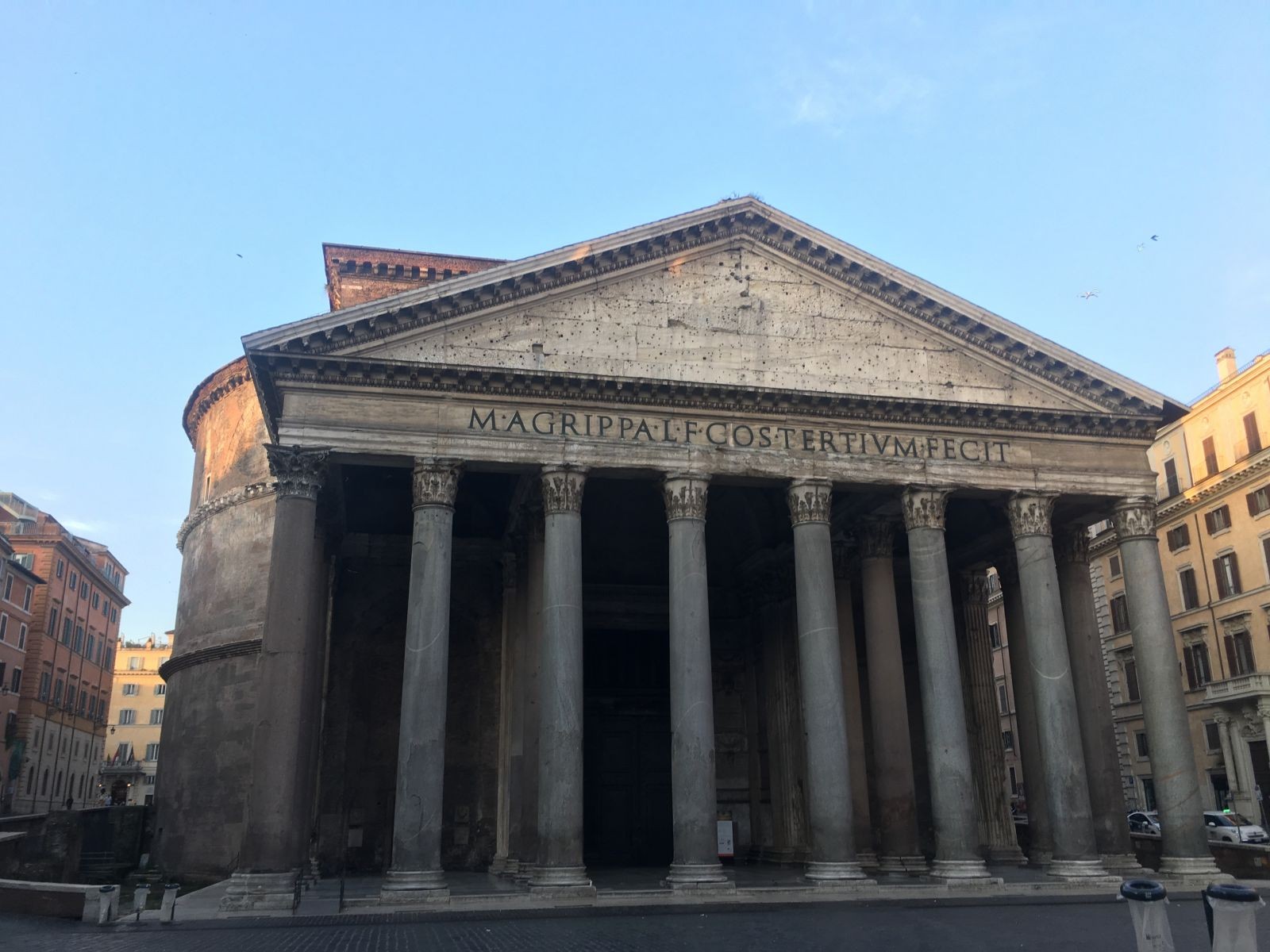The Pantheon and an empty Piazza della Rotonda on a Sunday Morning. Photo Courtesy of Catherine Bonesho.