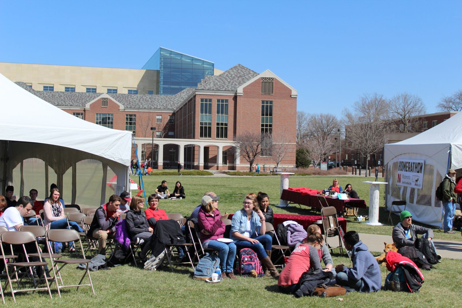 People lounging at midday. Photo by Ellie Churchill and used by permission.